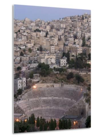 Roman Theatre in the Evening, Amman, Jordan, Middle East-Christian Kober-Metal Print