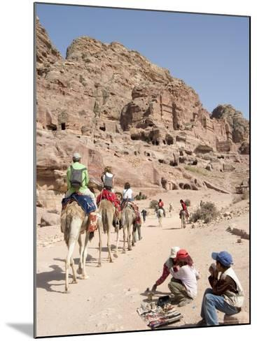 Tourist on Camels in Petra, Unesco World Heritage Site, Wadi Musa (Mousa), Jordan, Middle East-Christian Kober-Mounted Photographic Print