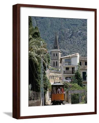 Tren De Soller Tramway, Soller, Mallorca (Majorca), Balearic Islands, Spain, Mediterranean-Christian Kober-Framed Art Print