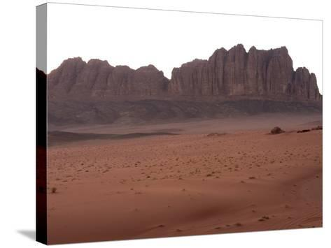 Desert Scenery, Wadi Rum, Jordan, Middle East-Christian Kober-Stretched Canvas Print