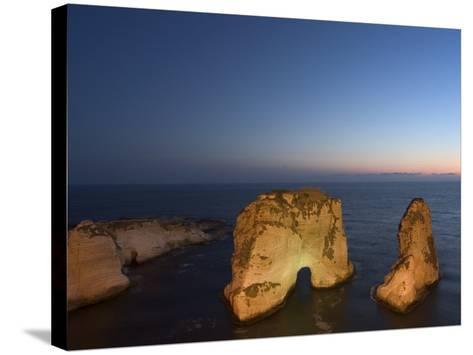 Pigeon Rocks (Rawcheh Rocks), Beirut, Lebanon, Middle East-Christian Kober-Stretched Canvas Print