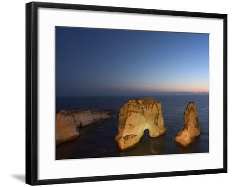 Pigeon Rocks (Rawcheh Rocks), Beirut, Lebanon, Middle East-Christian Kober-Framed Art Print