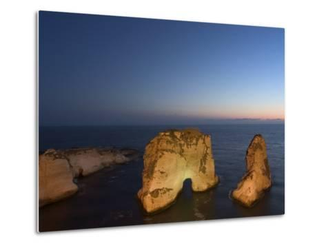 Pigeon Rocks (Rawcheh Rocks), Beirut, Lebanon, Middle East-Christian Kober-Metal Print