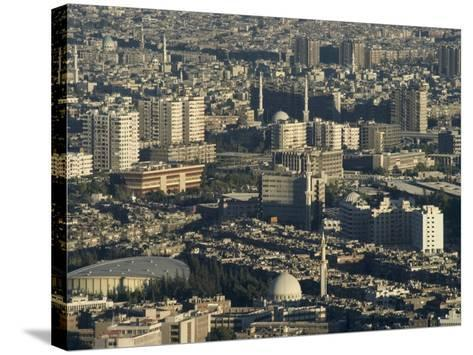 Aerial View of City, Damascus, Syria, Middle East-Christian Kober-Stretched Canvas Print