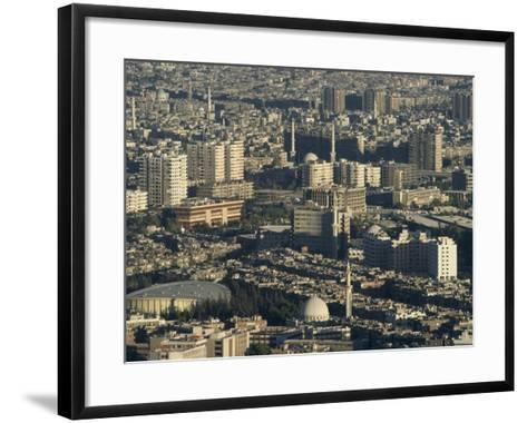 Aerial View of City, Damascus, Syria, Middle East-Christian Kober-Framed Art Print