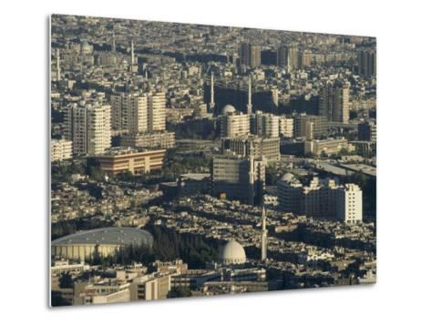 Aerial View of City, Damascus, Syria, Middle East-Christian Kober-Metal Print
