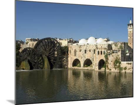 Mosque and Water Wheels on the Orontes River, Hama, Syria, Middle East-Christian Kober-Mounted Photographic Print