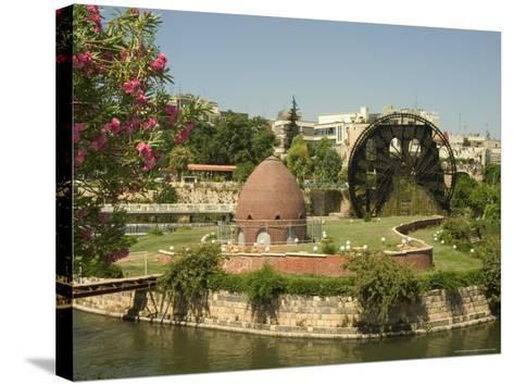 Water Wheel on the Orontes River, Hama, Syria, Middle East-Christian Kober-Stretched Canvas Print