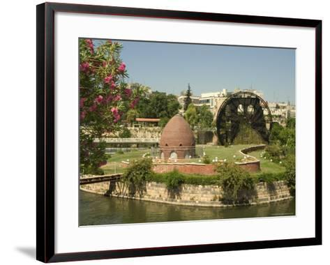 Water Wheel on the Orontes River, Hama, Syria, Middle East-Christian Kober-Framed Art Print