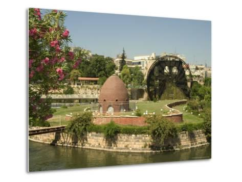 Water Wheel on the Orontes River, Hama, Syria, Middle East-Christian Kober-Metal Print