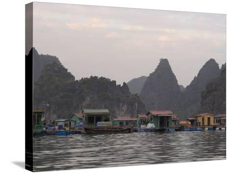 House Boats, Halong Bay, Cat Ba National Park, Northern Vietnam, Southeast Asia-Christian Kober-Stretched Canvas Print