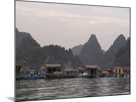 House Boats, Halong Bay, Cat Ba National Park, Northern Vietnam, Southeast Asia-Christian Kober-Mounted Photographic Print