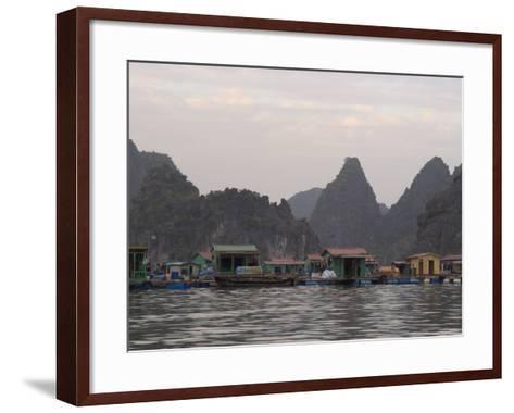 House Boats, Halong Bay, Cat Ba National Park, Northern Vietnam, Southeast Asia-Christian Kober-Framed Art Print