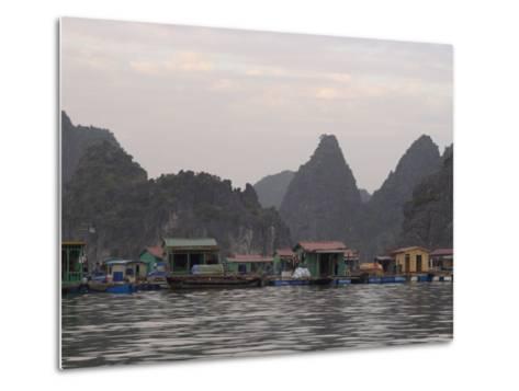 House Boats, Halong Bay, Cat Ba National Park, Northern Vietnam, Southeast Asia-Christian Kober-Metal Print