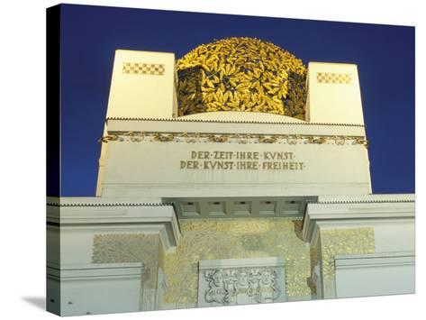 Detail of the Exterior of the Dome of the Art Nouveau Secession Building, Vienna, Austria-Richard Nebesky-Stretched Canvas Print