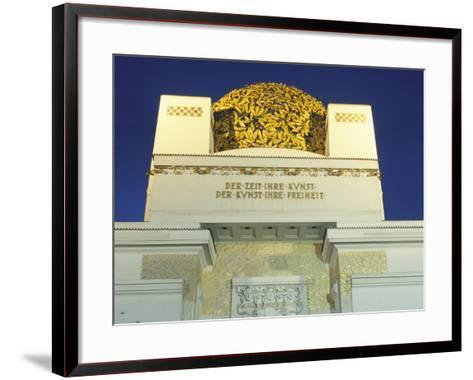 Detail of the Exterior of the Dome of the Art Nouveau Secession Building, Vienna, Austria-Richard Nebesky-Framed Art Print