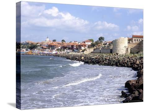 Town and Walls of Nesebar, Bulgaria-Richard Nebesky-Stretched Canvas Print
