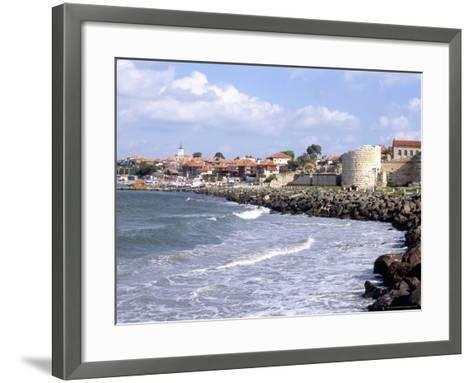 Town and Walls of Nesebar, Bulgaria-Richard Nebesky-Framed Art Print
