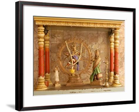Shrine with Hindu Deity, a Dancing Shiva, at Sri Maha Mariamman Temple, Kuala Lumpur, Malaysia-Richard Nebesky-Framed Art Print