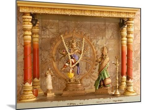 Shrine with Hindu Deity, a Dancing Shiva, at Sri Maha Mariamman Temple, Kuala Lumpur, Malaysia-Richard Nebesky-Mounted Photographic Print