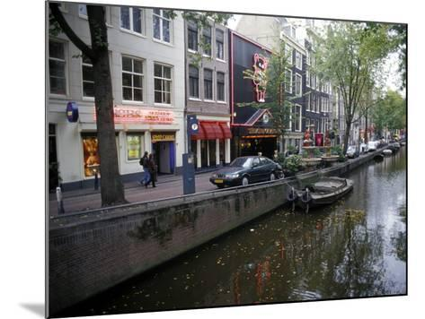 Red Light District Along One of the City Canals, Amsterdam, the Netherlands (Holland)-Richard Nebesky-Mounted Photographic Print