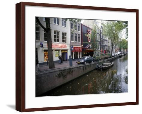 Red Light District Along One of the City Canals, Amsterdam, the Netherlands (Holland)-Richard Nebesky-Framed Art Print