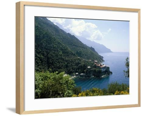View of the Holy Athos, Greece-Oliviero Olivieri-Framed Art Print
