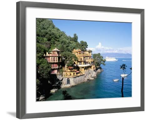 Portofino, Liguria, Italy, Mediterranean-Oliviero Olivieri-Framed Art Print