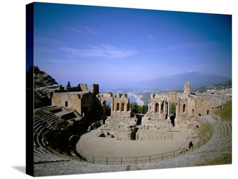 Taormina, Island of Sicily, Italy, Mediterranean-Oliviero Olivieri-Stretched Canvas Print