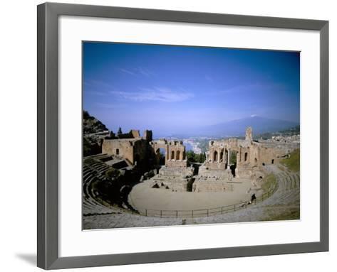 Taormina, Island of Sicily, Italy, Mediterranean-Oliviero Olivieri-Framed Art Print