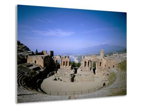 Taormina, Island of Sicily, Italy, Mediterranean-Oliviero Olivieri-Metal Print