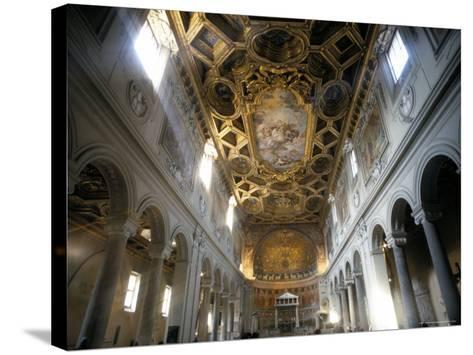 Interior of the Church of San Clemente, Rome, Lazio, Italy-Oliviero Olivieri-Stretched Canvas Print