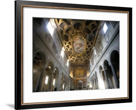 Interior of the Church of San Clemente, Rome, Lazio, Italy-Oliviero Olivieri-Framed Art Print