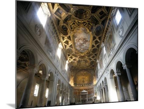 Interior of the Church of San Clemente, Rome, Lazio, Italy-Oliviero Olivieri-Mounted Photographic Print