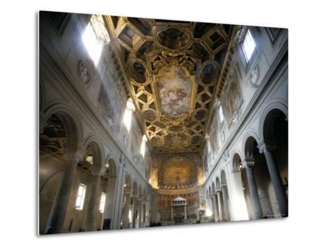 Interior of the Church of San Clemente, Rome, Lazio, Italy-Oliviero Olivieri-Metal Print