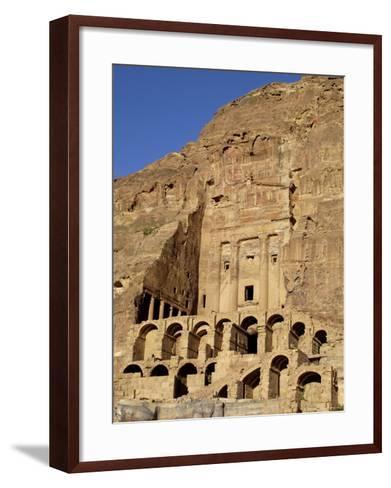 Urn Tomb, Petra, Unesco World Heritage Site, Jordan, Middle East-Sergio Pitamitz-Framed Art Print