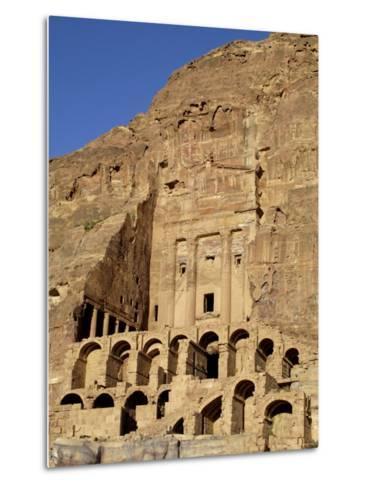 Urn Tomb, Petra, Unesco World Heritage Site, Jordan, Middle East-Sergio Pitamitz-Metal Print