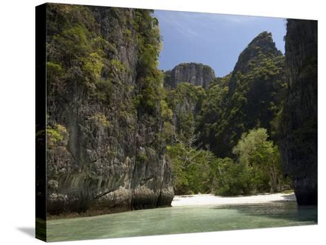 Loh Sama Bay, Phi Phi Lay Island, Thailand, Southeast Asia-Sergio Pitamitz-Stretched Canvas Print