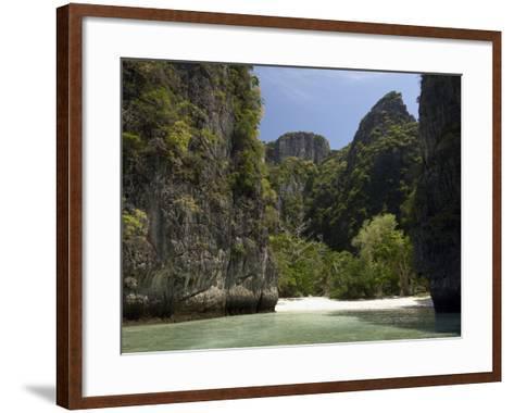 Loh Sama Bay, Phi Phi Lay Island, Thailand, Southeast Asia-Sergio Pitamitz-Framed Art Print