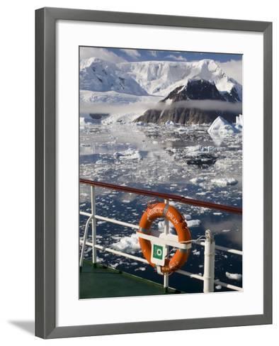 Antarctic Dream Ship, Gerlache Strait, Antarctic Peninsula, Antarctica, Polar Regions-Sergio Pitamitz-Framed Art Print