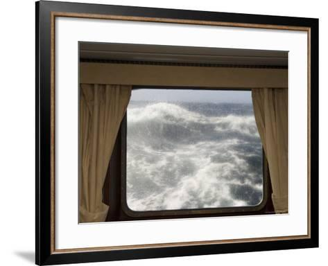View from Cabin on Antarctic Dream Navigation on Rough Seas Near Cape Horn-Sergio Pitamitz-Framed Art Print