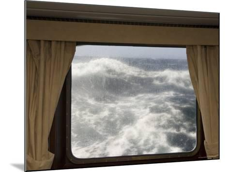 View from Cabin on Antarctic Dream Navigation on Rough Seas Near Cape Horn-Sergio Pitamitz-Mounted Photographic Print