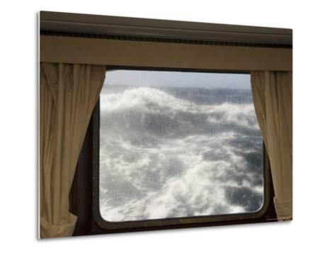 View from Cabin on Antarctic Dream Navigation on Rough Seas Near Cape Horn-Sergio Pitamitz-Metal Print