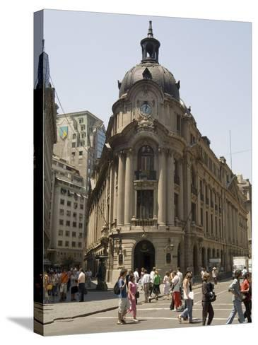 Stock Exchange, Santiago, Chile, South America-Sergio Pitamitz-Stretched Canvas Print