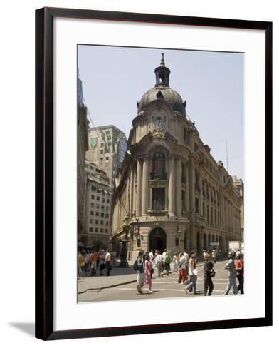 Stock Exchange, Santiago, Chile, South America-Sergio Pitamitz-Framed Art Print