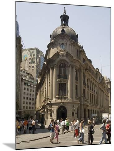 Stock Exchange, Santiago, Chile, South America-Sergio Pitamitz-Mounted Photographic Print