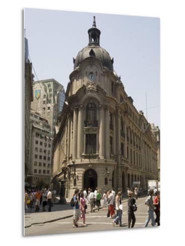 Stock Exchange, Santiago, Chile, South America-Sergio Pitamitz-Metal Print