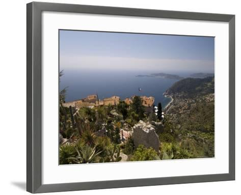 Eze Village and Cap Ferrat, Alpes Maritimes, Provence, Cote d'Azur, French Riviera, France-Sergio Pitamitz-Framed Art Print