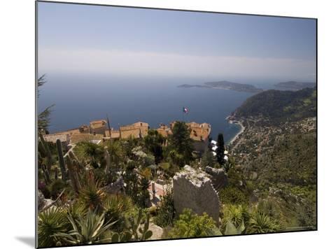 Eze Village and Cap Ferrat, Alpes Maritimes, Provence, Cote d'Azur, French Riviera, France-Sergio Pitamitz-Mounted Photographic Print