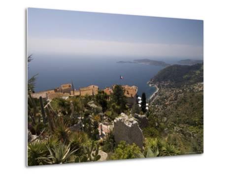Eze Village and Cap Ferrat, Alpes Maritimes, Provence, Cote d'Azur, French Riviera, France-Sergio Pitamitz-Metal Print